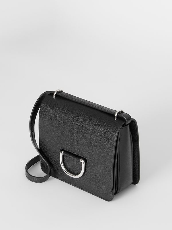 The Small Leather D-ring Bag in Black - Women | Burberry United Kingdom - cell image 3