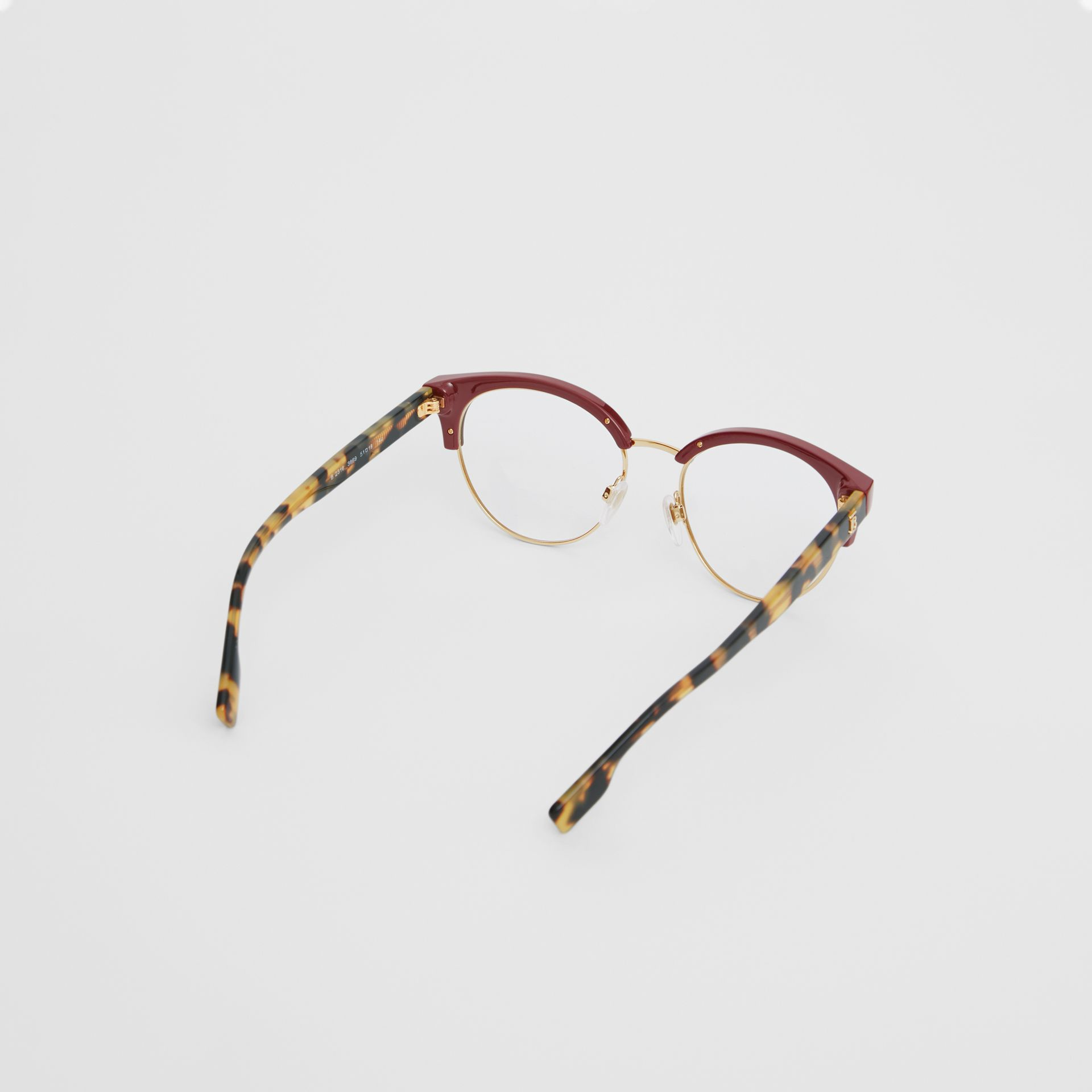 Cat-eye Optical Frames in Burgundy - Women | Burberry Australia - gallery image 4