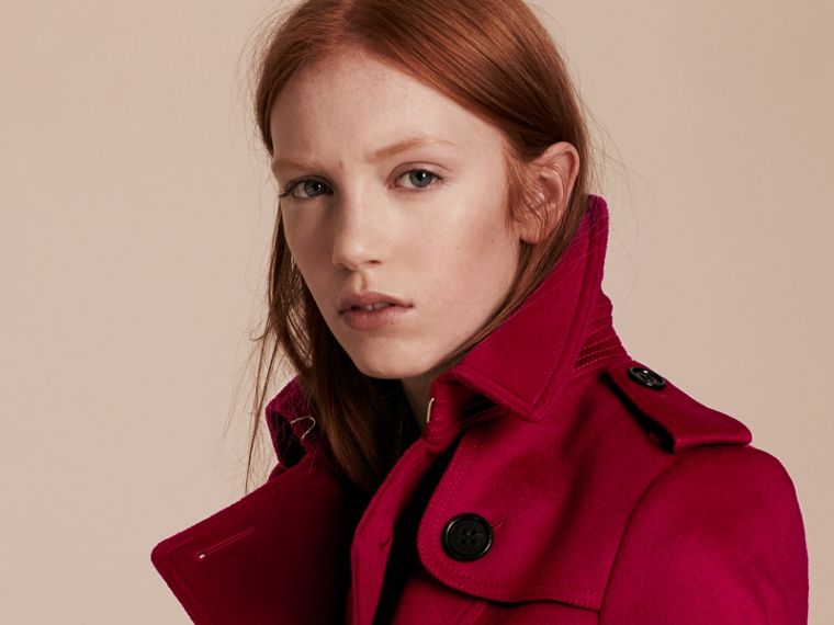 Parade red Wool Cashmere Trench Jacket - cell image 4