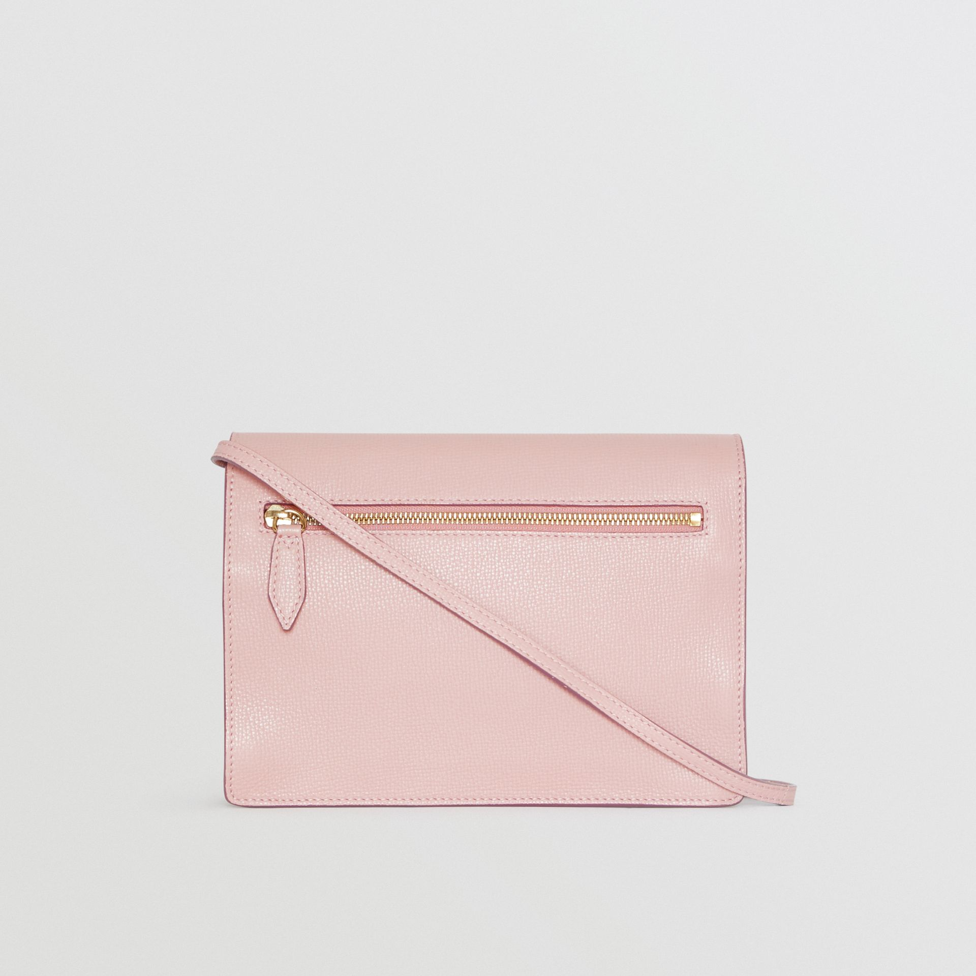 Small Leather and House Check Crossbody Bag in Pale Orchid - Women | Burberry - gallery image 7