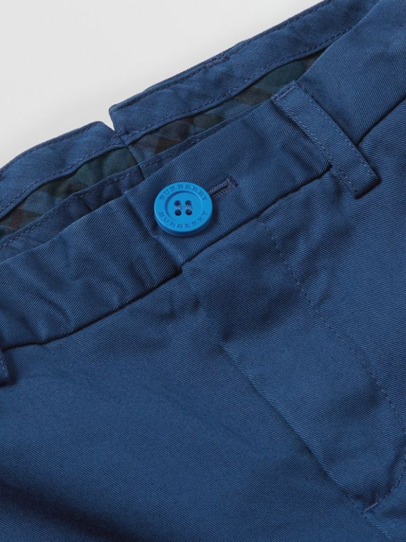 Cotton Chinos in Bright Navy | Burberry Canada - cell image 1