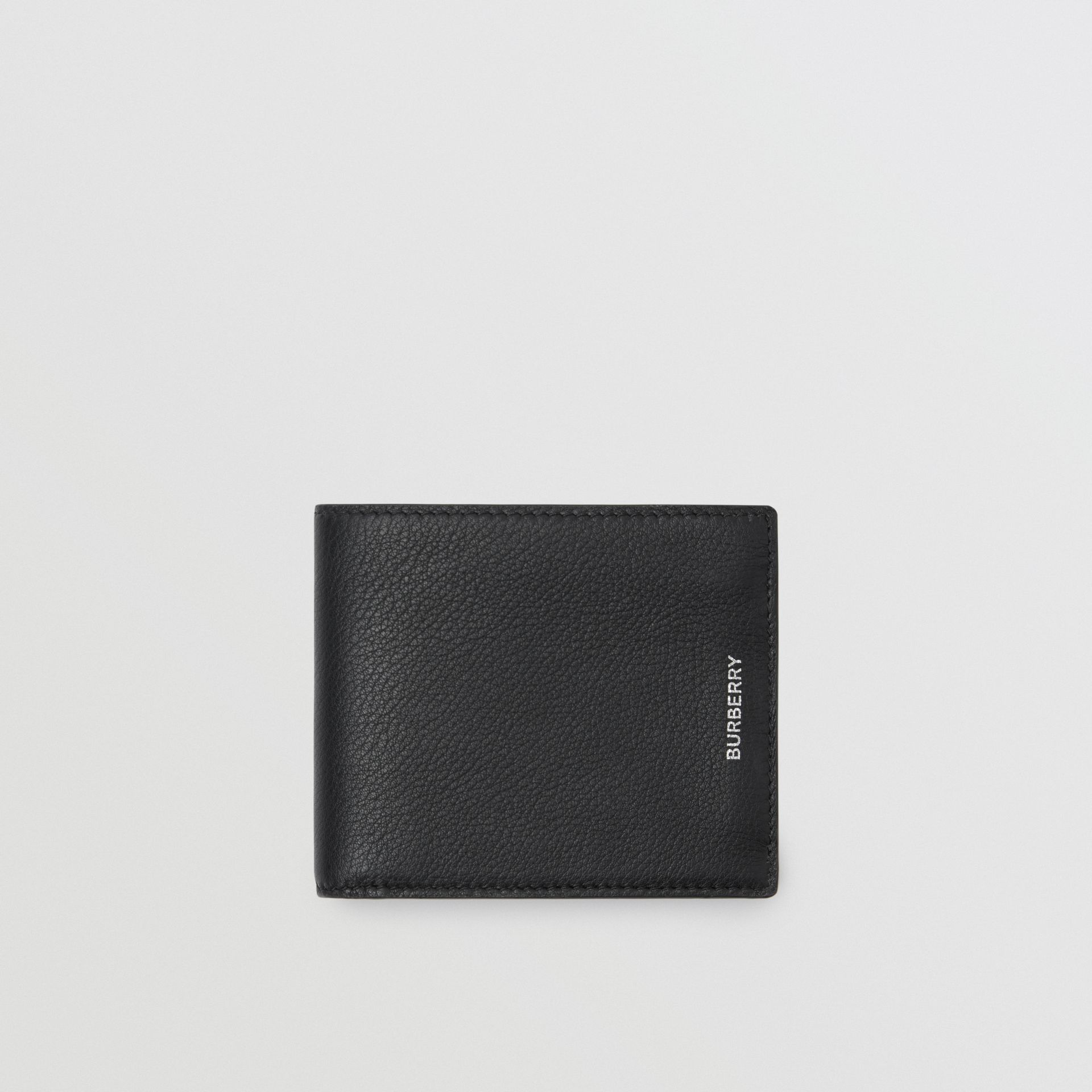 Grainy Leather International Bifold Wallet in Black | Burberry - gallery image 0
