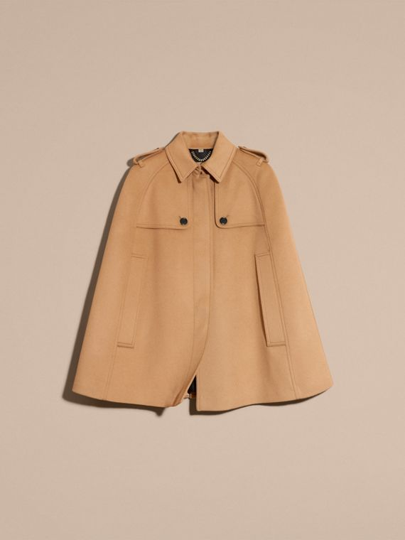 Camel Wool Cashmere Blend Trench Cape - cell image 3