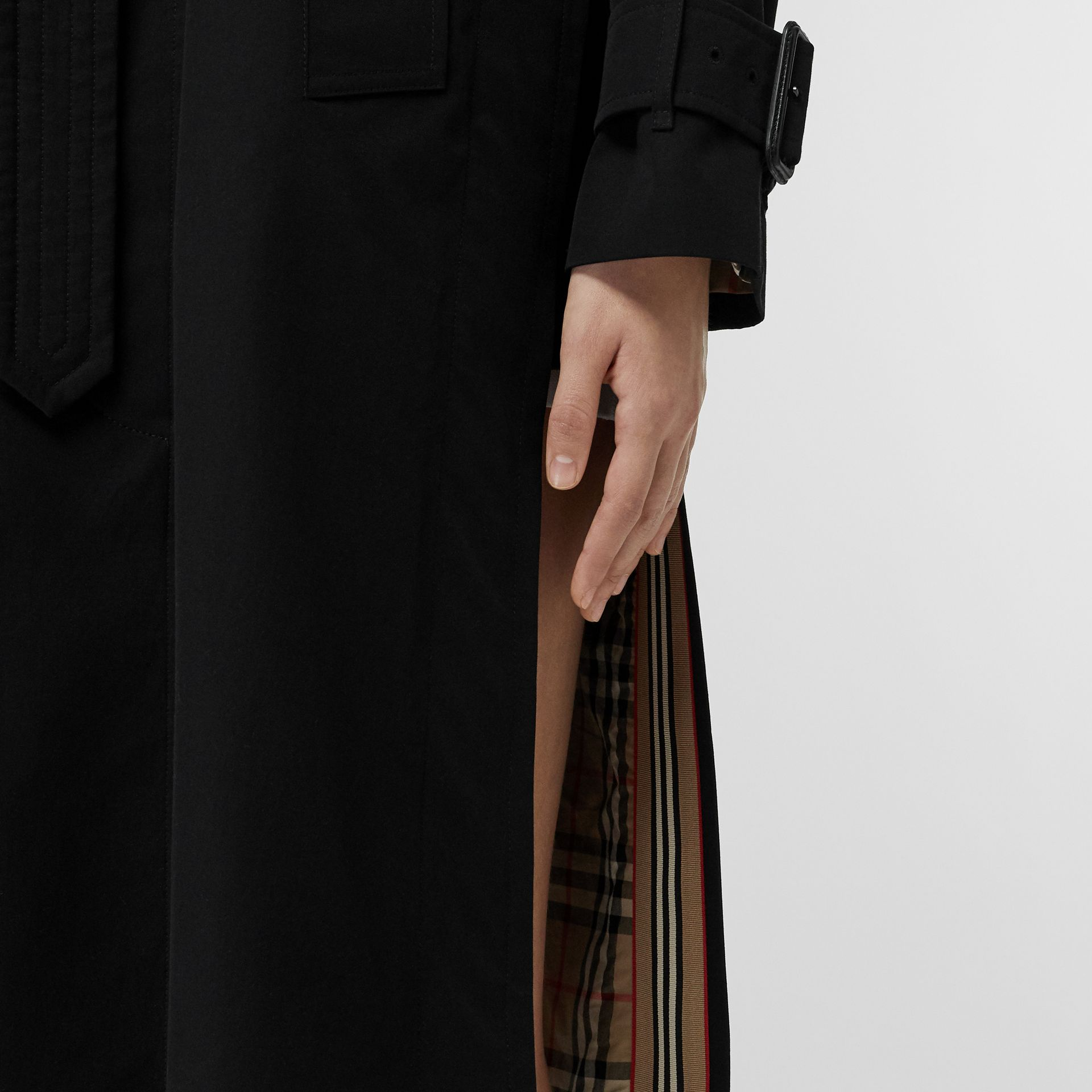 Tropical Gabardine Belted Car Coat in Black - Women | Burberry United States - gallery image 6