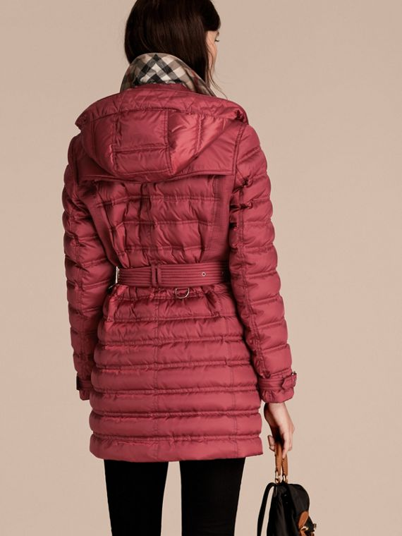Dark crimson Down-filled Puffer Coat Dark Crimson - cell image 2