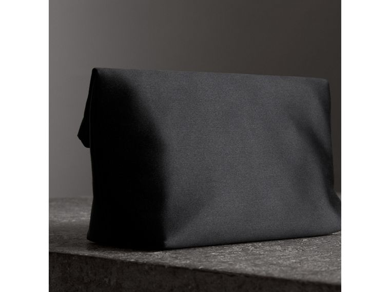 The Small Pin Clutch in Satin in Black - Women | Burberry Australia - cell image 4