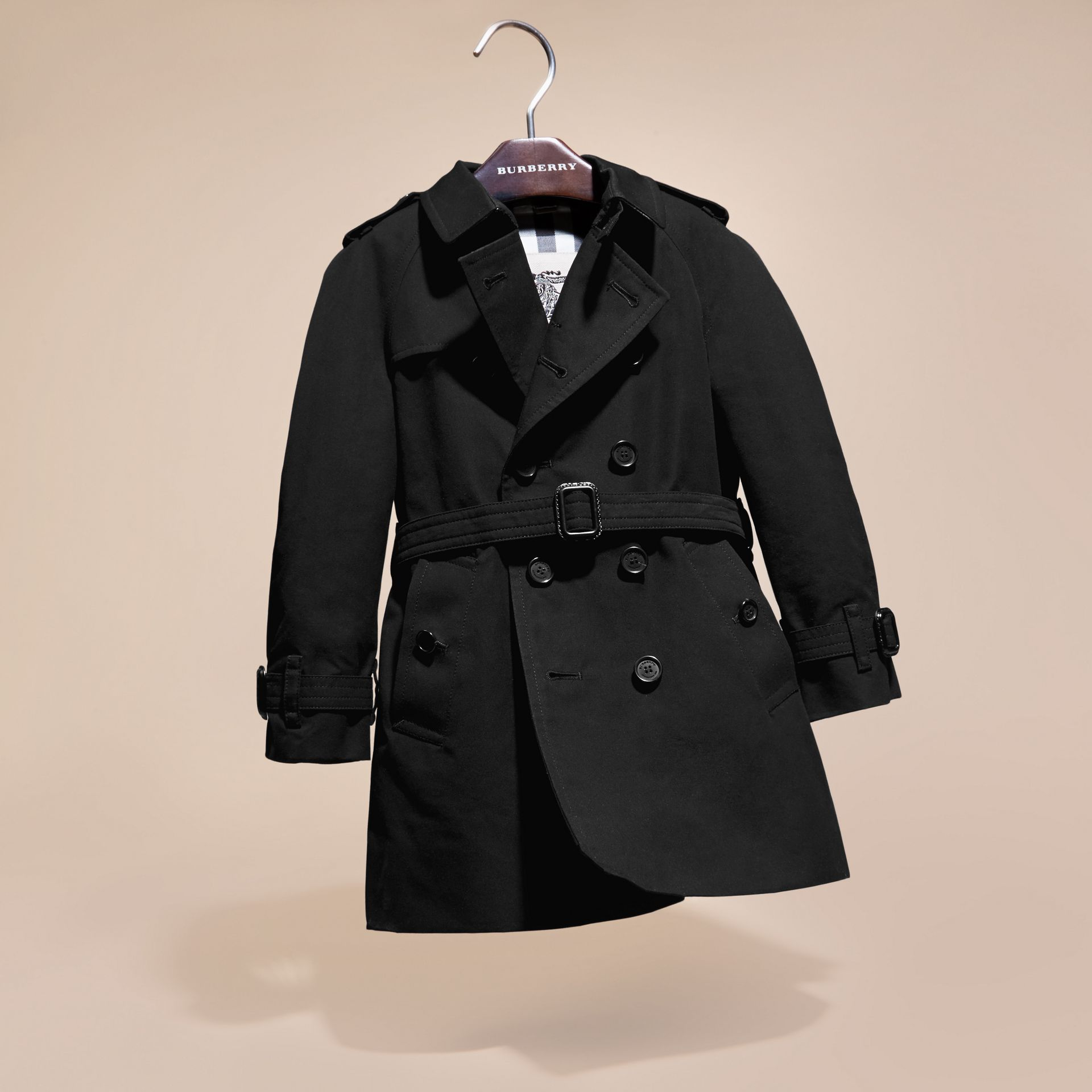 The Wiltshire – Heritage Trench Coat Black - gallery image 3