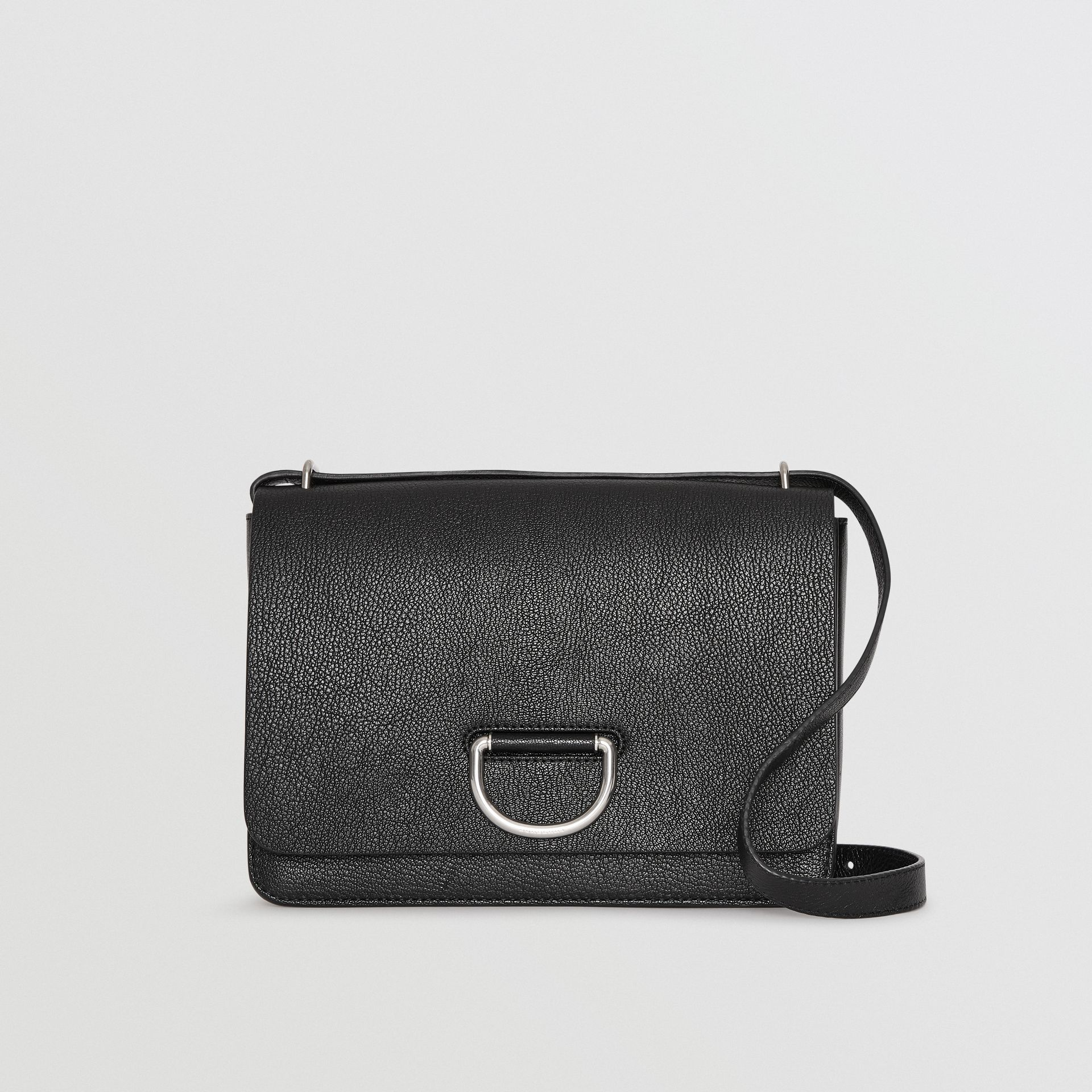 The Medium Leather D-ring Bag in Black - Women | Burberry United Kingdom - gallery image 0