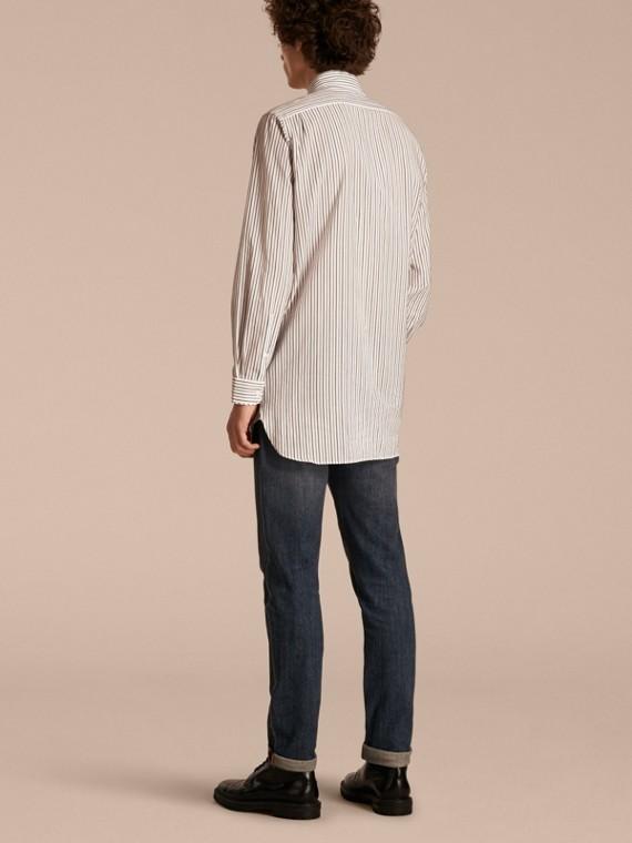 Striped Cotton Poplin Shirt - cell image 2