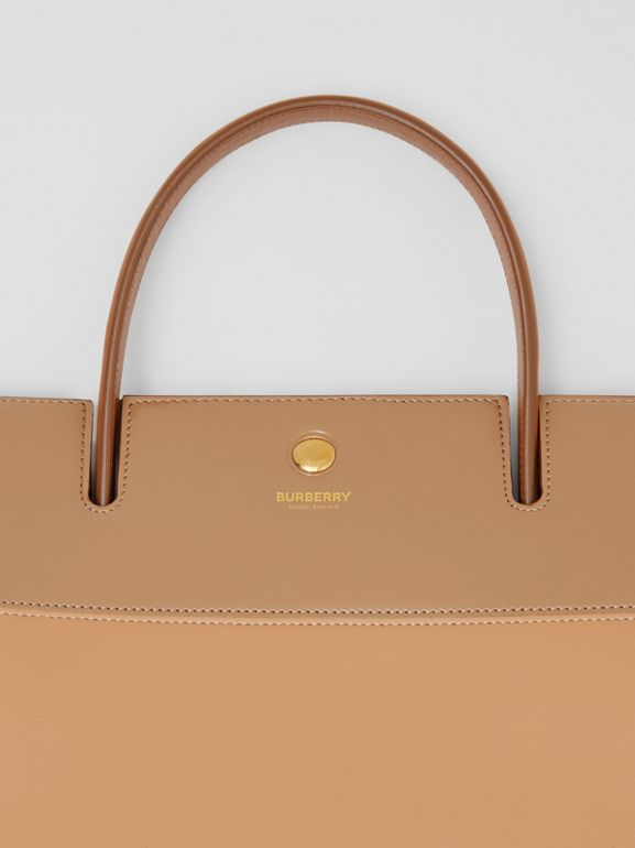 Medium Panelled Leather Title Bag in Soft Fawn - Women | Burberry - cell image 1
