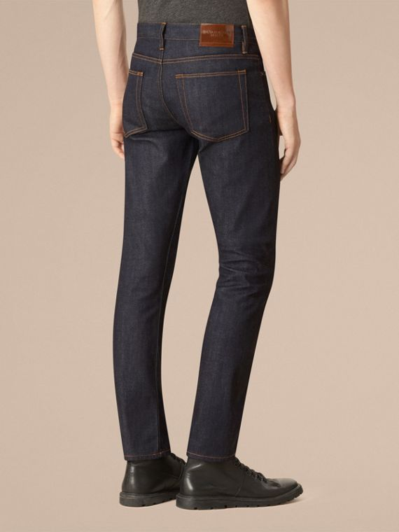 Dark indigo Straight Fit Selvedge Jeans - cell image 2