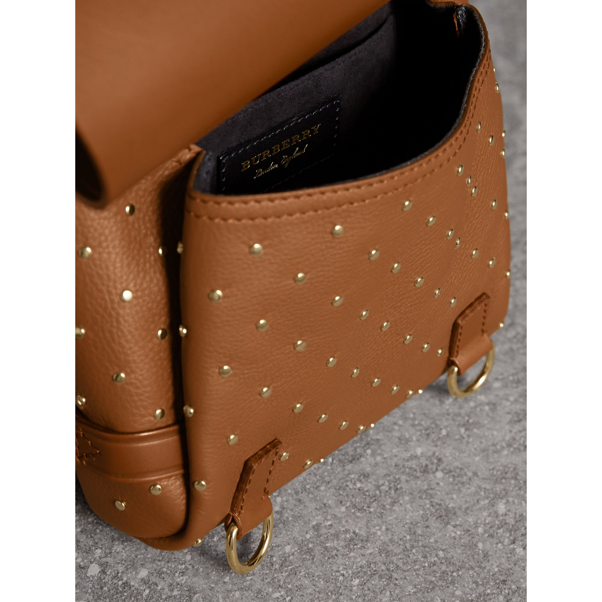 The Bridle Bag in Leather and Rivets in Tan - gallery image 6