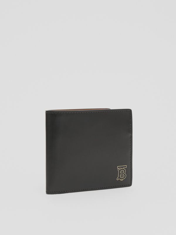 Monogram Motif Leather International Bifold Wallet in Black | Burberry Canada - cell image 3