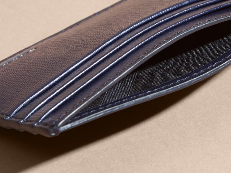 London Leather Card Case in Dark Navy | Burberry United Kingdom - cell image 4