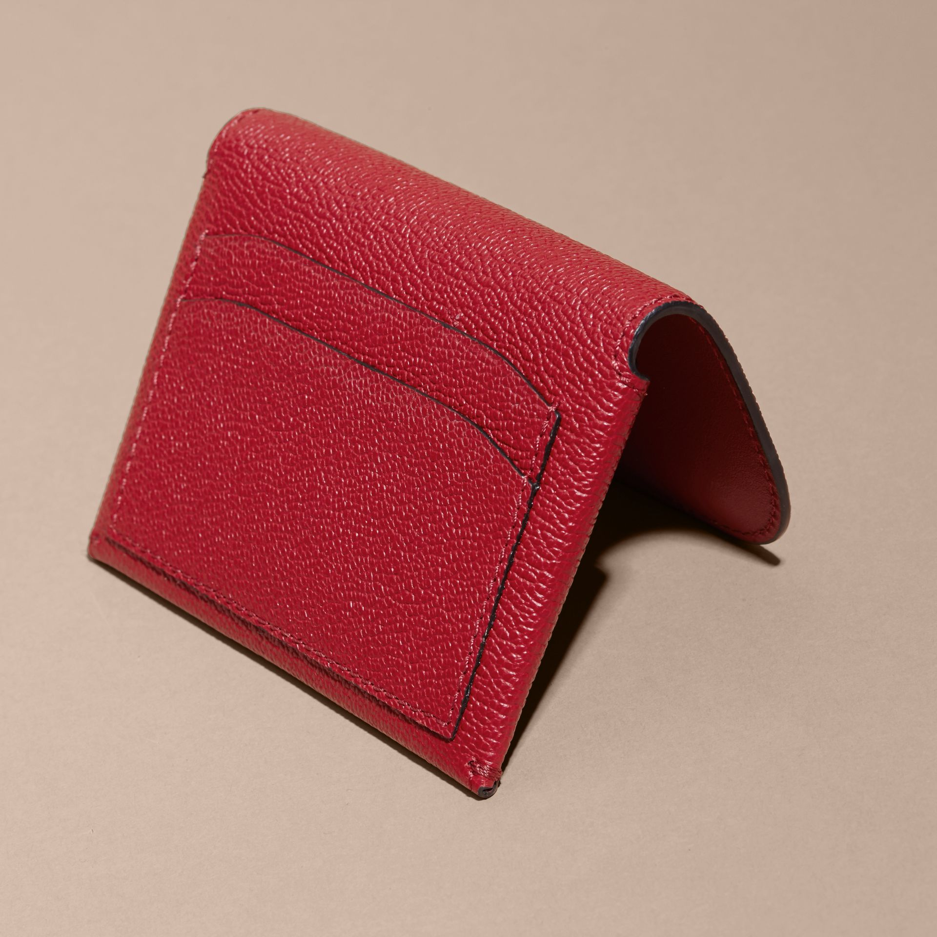 Leather Coin Case with Removable Card Compartment in Parade Red - Women | Burberry Canada - gallery image 4