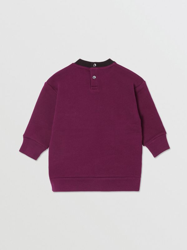 Logo Print Jersey Sweater Dress in Burgundy - Children | Burberry - cell image 3