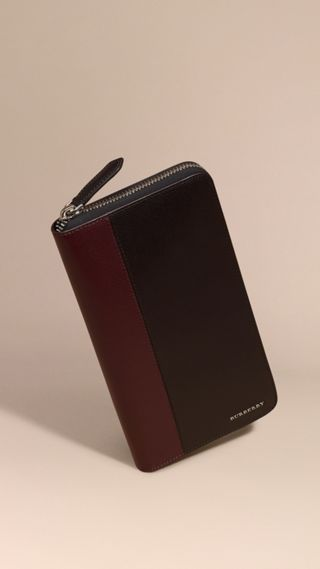 Colour Block London Leather Ziparound Wallet