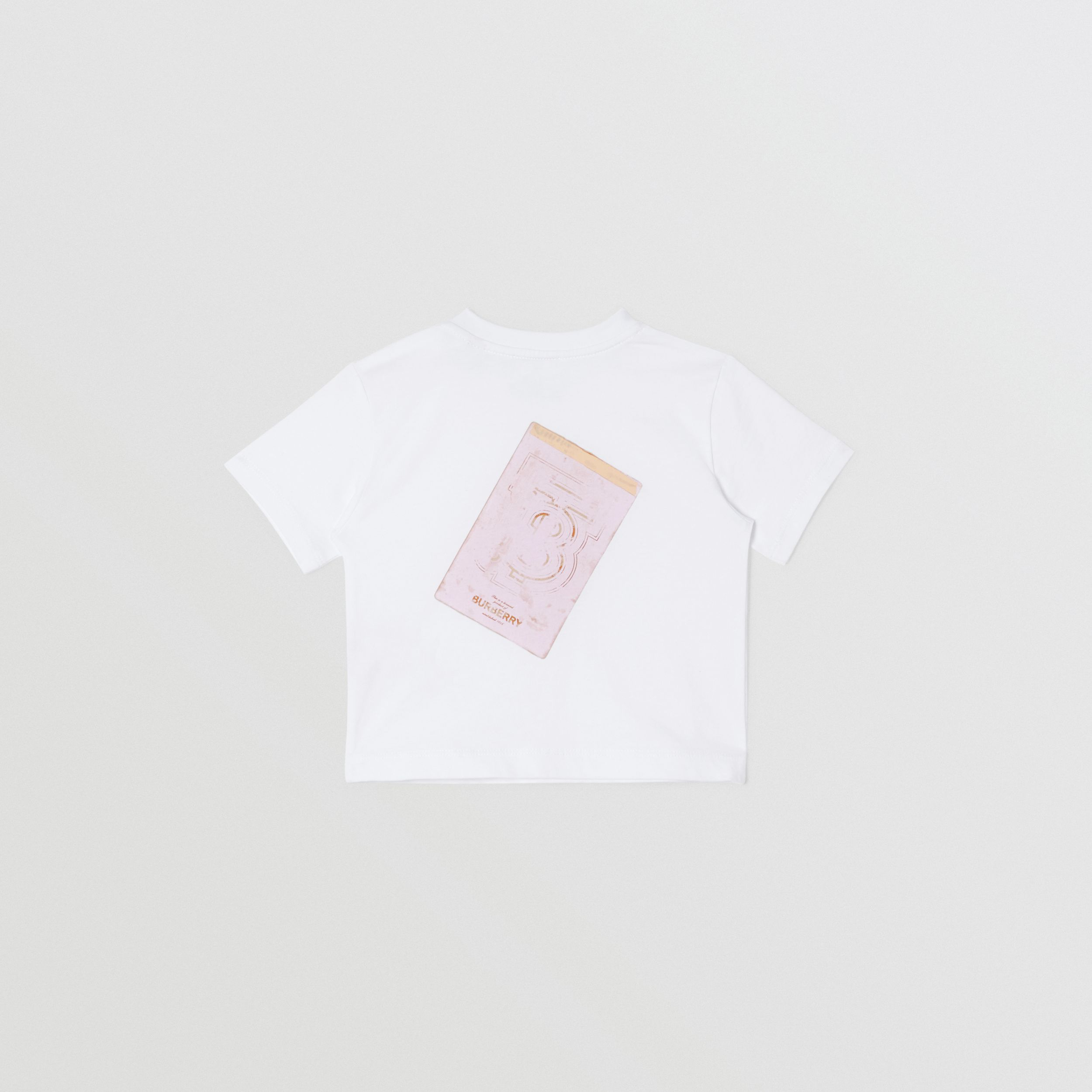 Collage Print Cotton T-shirt in White - Children | Burberry United States - 4