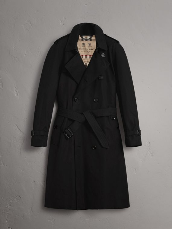 The Westminster – Extra-long Trench Coat in Black - Men | Burberry Australia - cell image 3