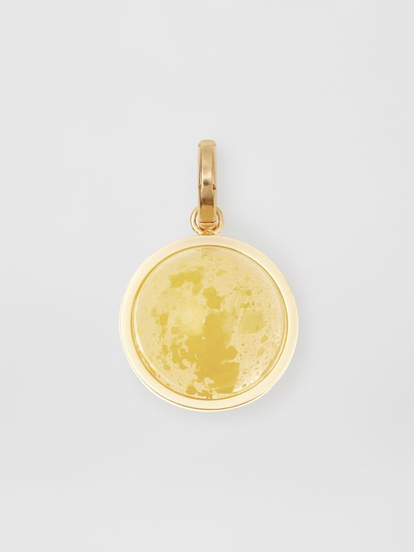 Marbled Resin 'V' Alphabet Charm in Gold/mimosa - Women | Burberry United States - cell image 3