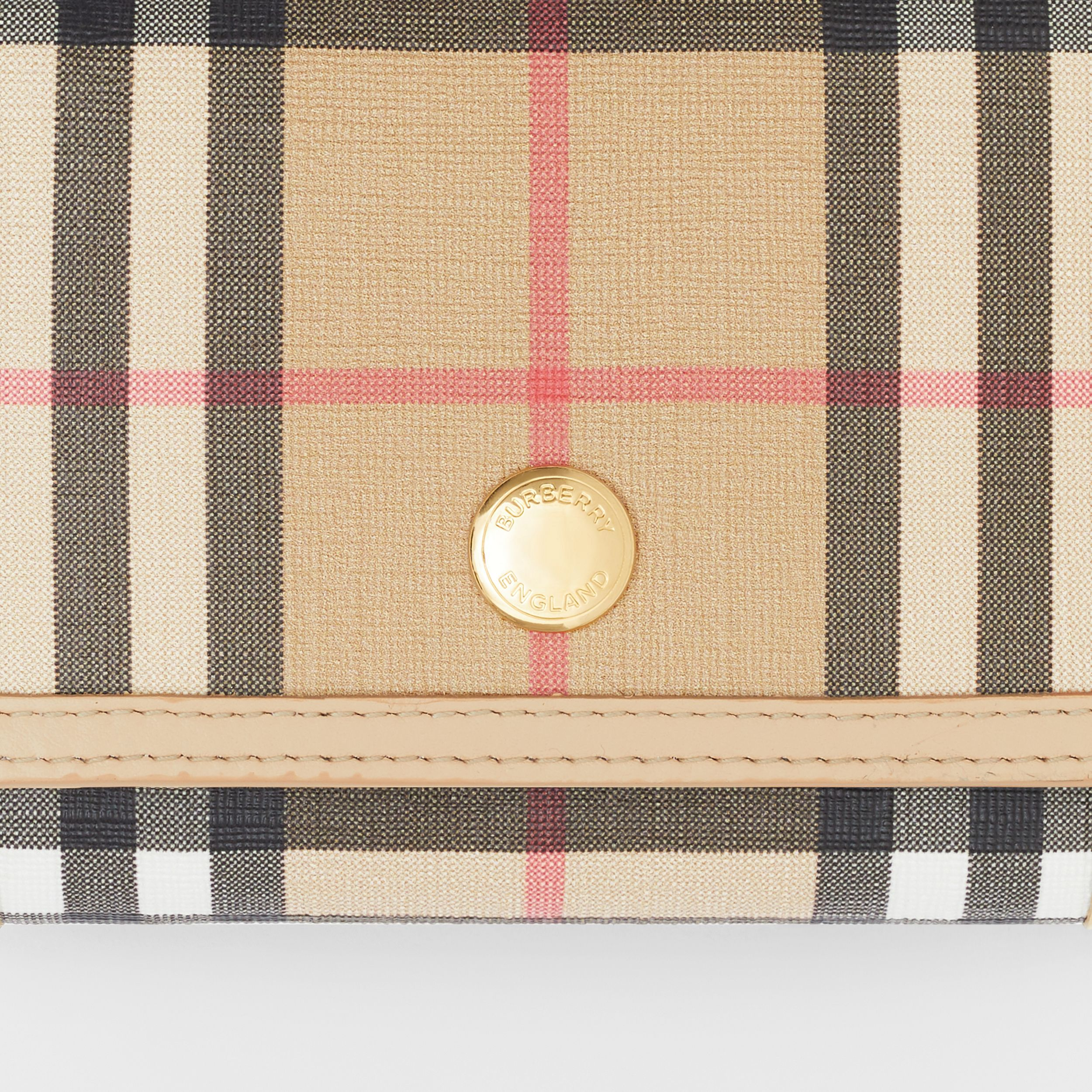Small Vintage Check E-canvas Folding Wallet in Beige - Women | Burberry Canada - 2