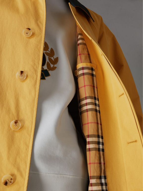 Reissued Waxed Cotton Gabardine Car Coat in Yellow - Men | Burberry Canada - cell image 1