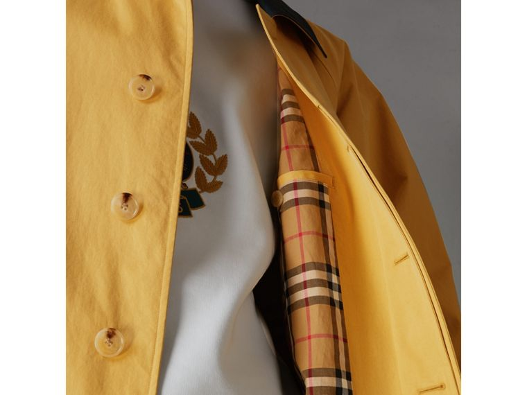 Reissued Waxed Cotton Gabardine Car Coat in Yellow - Men | Burberry - cell image 1