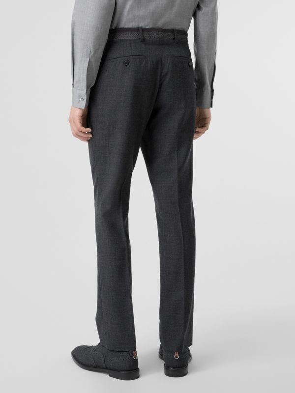 Classic Fit Wool Tailored Trousers in Dark Grey | Burberry Singapore - cell image 2