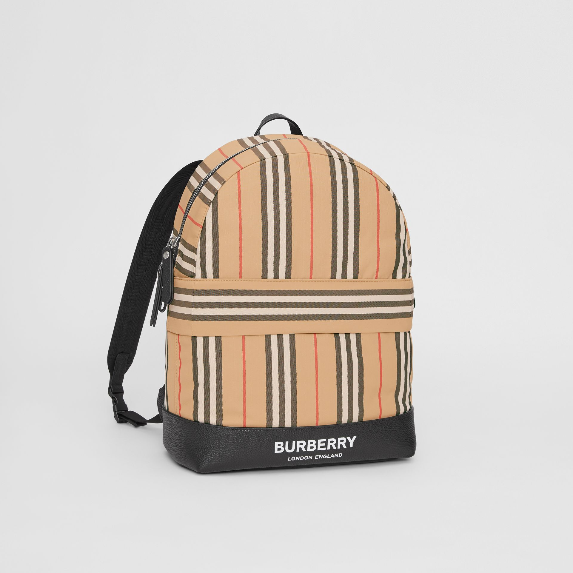 Icon Stripe Nylon Backpack in Archive Beige - Children | Burberry United Kingdom - gallery image 4
