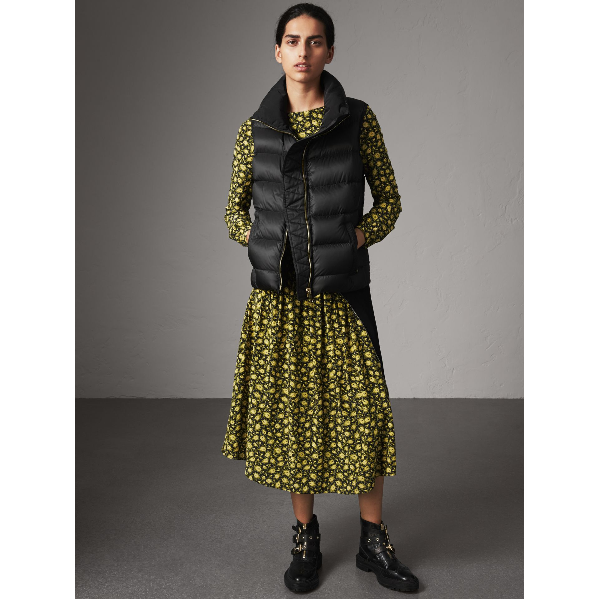 Down-filled Gilet in Black - Women | Burberry United Kingdom - gallery image 5
