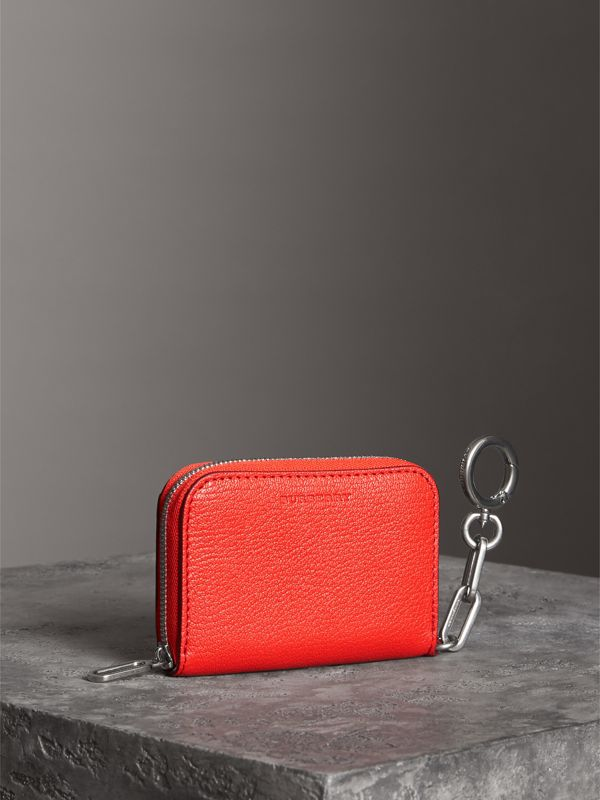 Link Detail Leather Ziparound Wallet in Bright Red | Burberry Australia - cell image 2