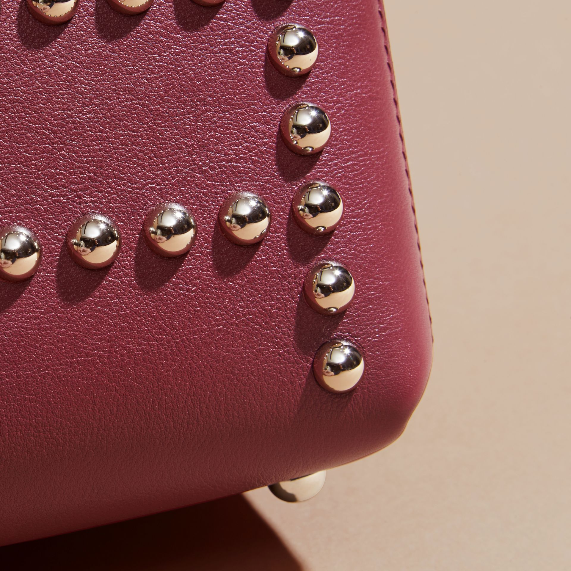 Garnet pink The Baby Banner in Studded Leather and House Check - gallery image 6