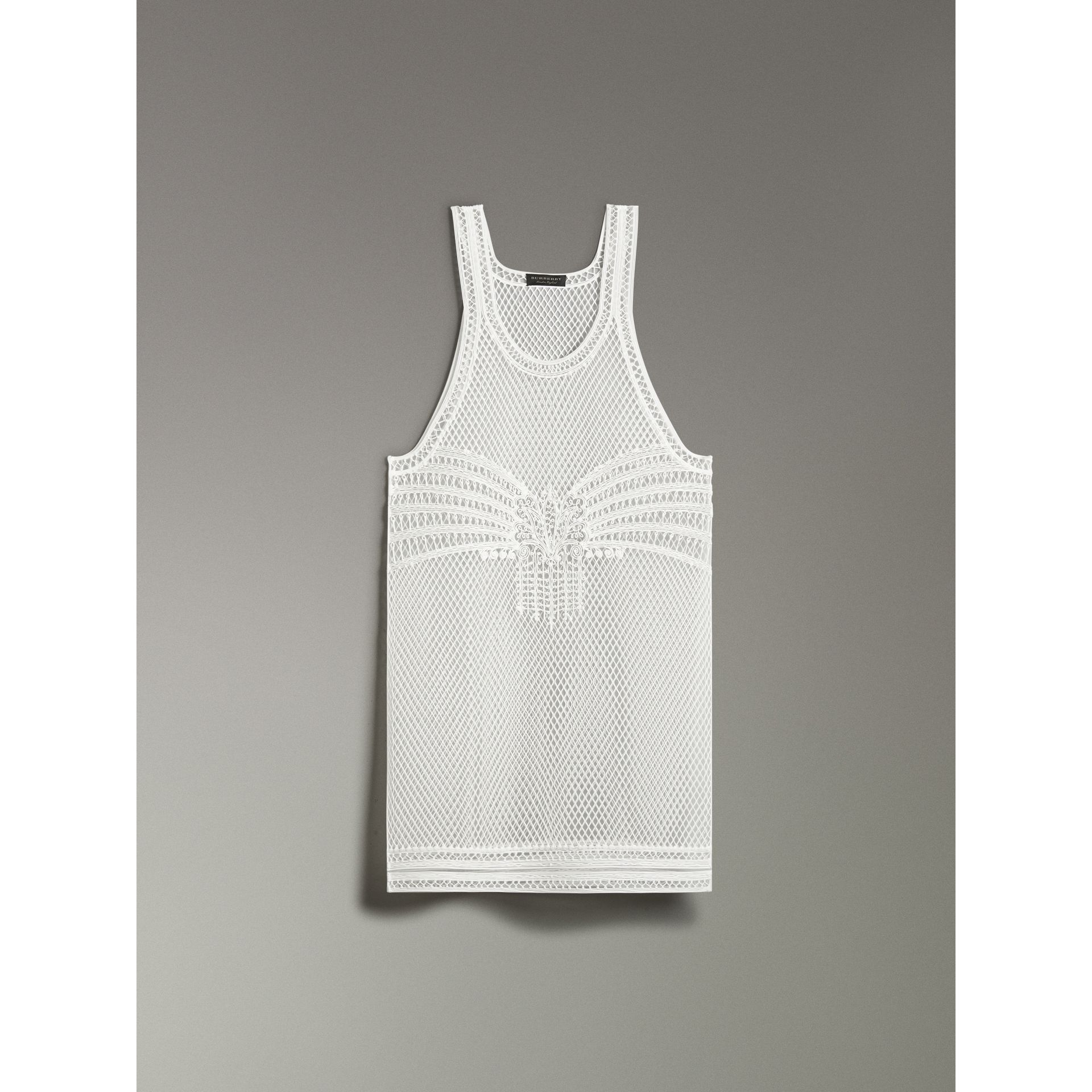 Silicone Lace Vest in White - Women | Burberry - gallery image 3