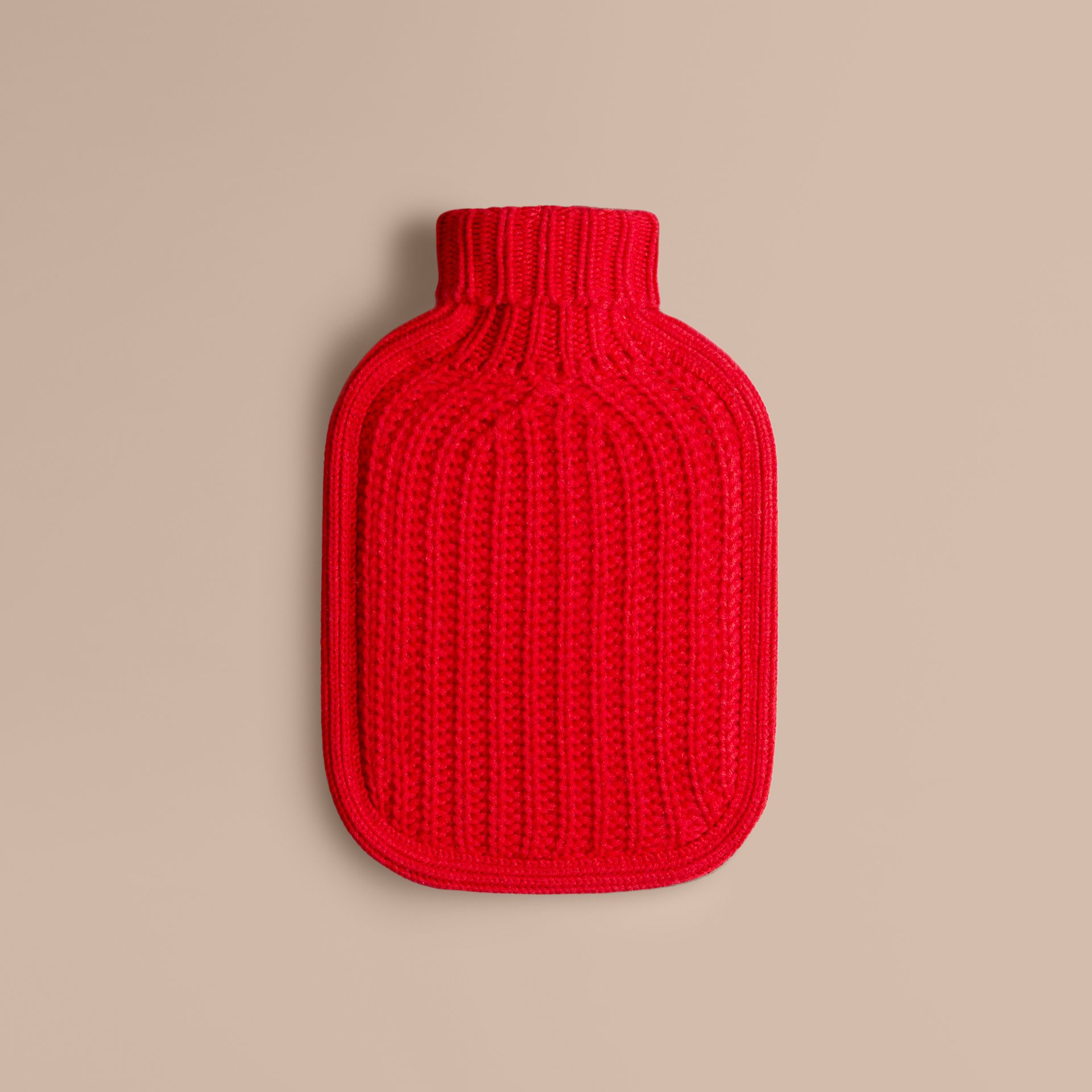 Military red Cashmere Hot Water Bottle Cover Military Red - gallery image 1
