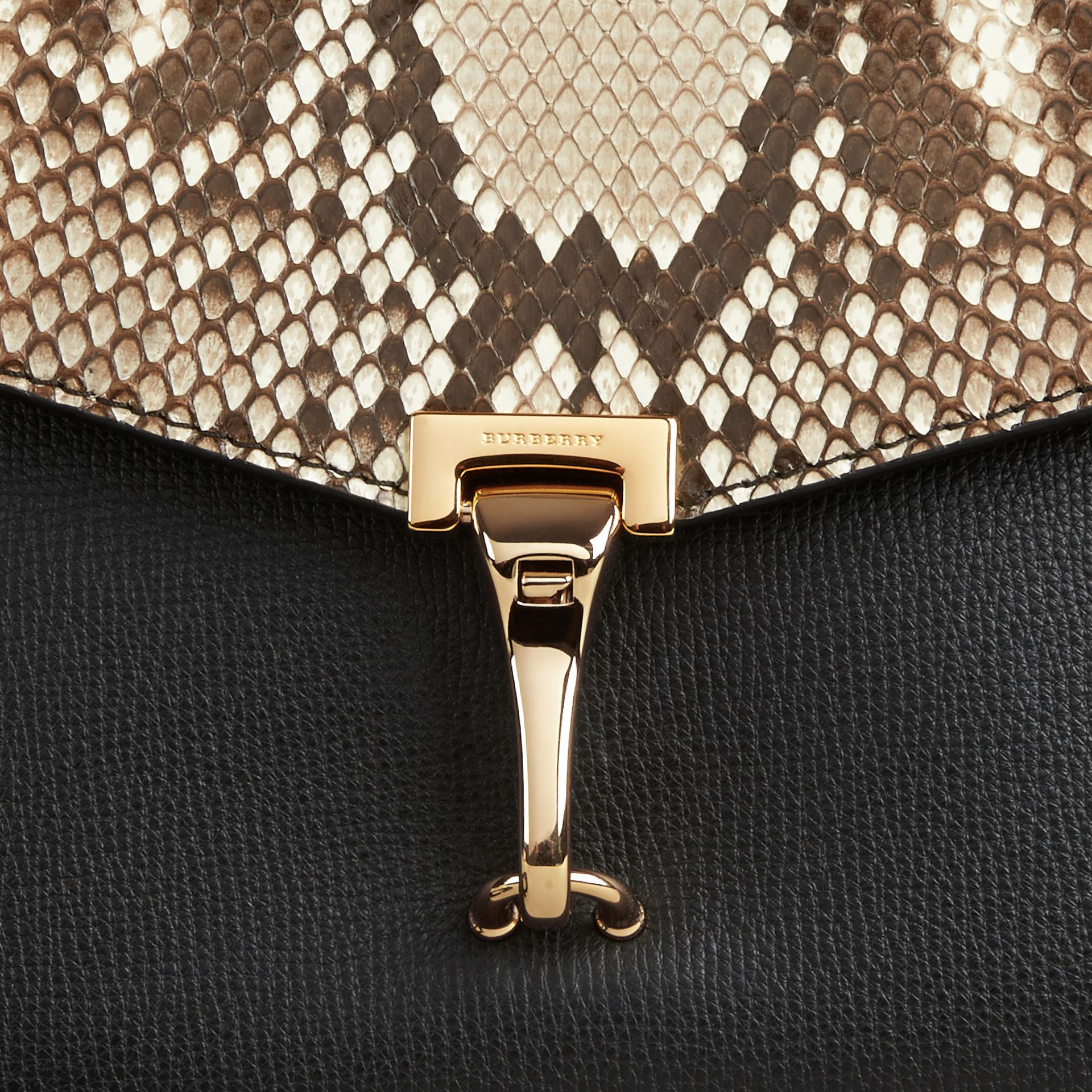Small Python Crossbody Bag in Natural - Women | Burberry United Kingdom - gallery image 1