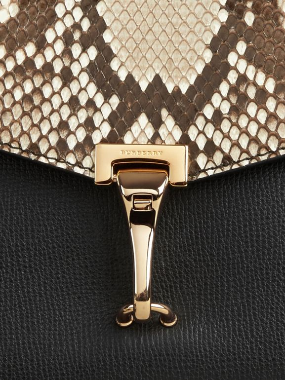 Small Python Crossbody Bag in Natural - Women | Burberry Hong Kong - cell image 1