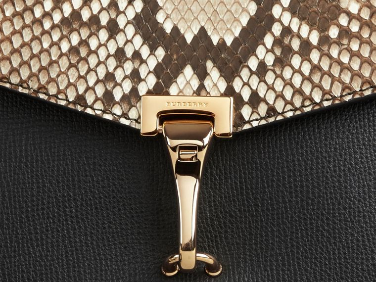 Small Python Crossbody Bag in Natural - Women | Burberry United Kingdom - cell image 1
