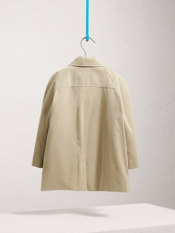 Tropical Gabardine Trench Coat in Sandstone - Girl | Burberry - cell image 3