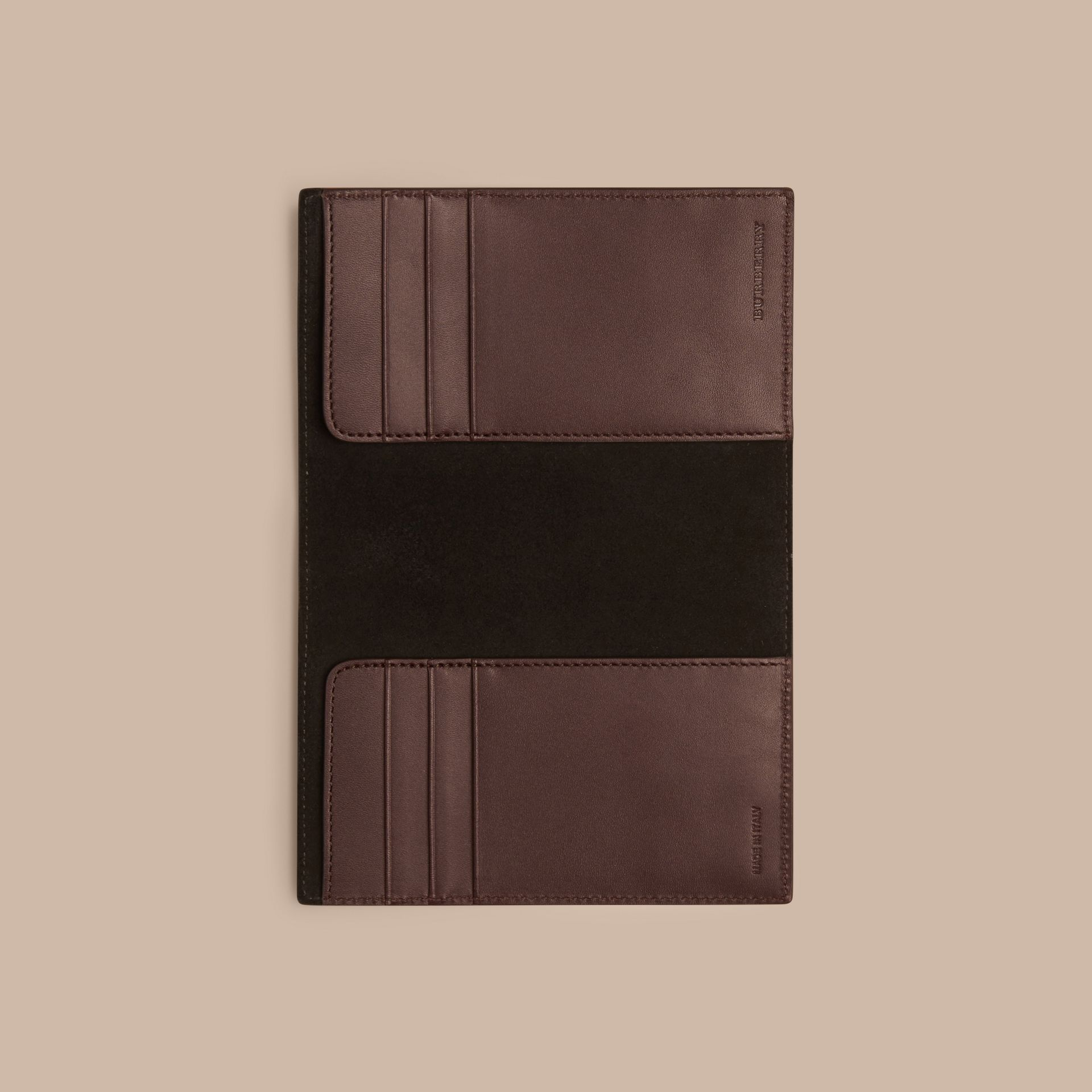 Wine London Leather Passport Cover Wine - gallery image 4