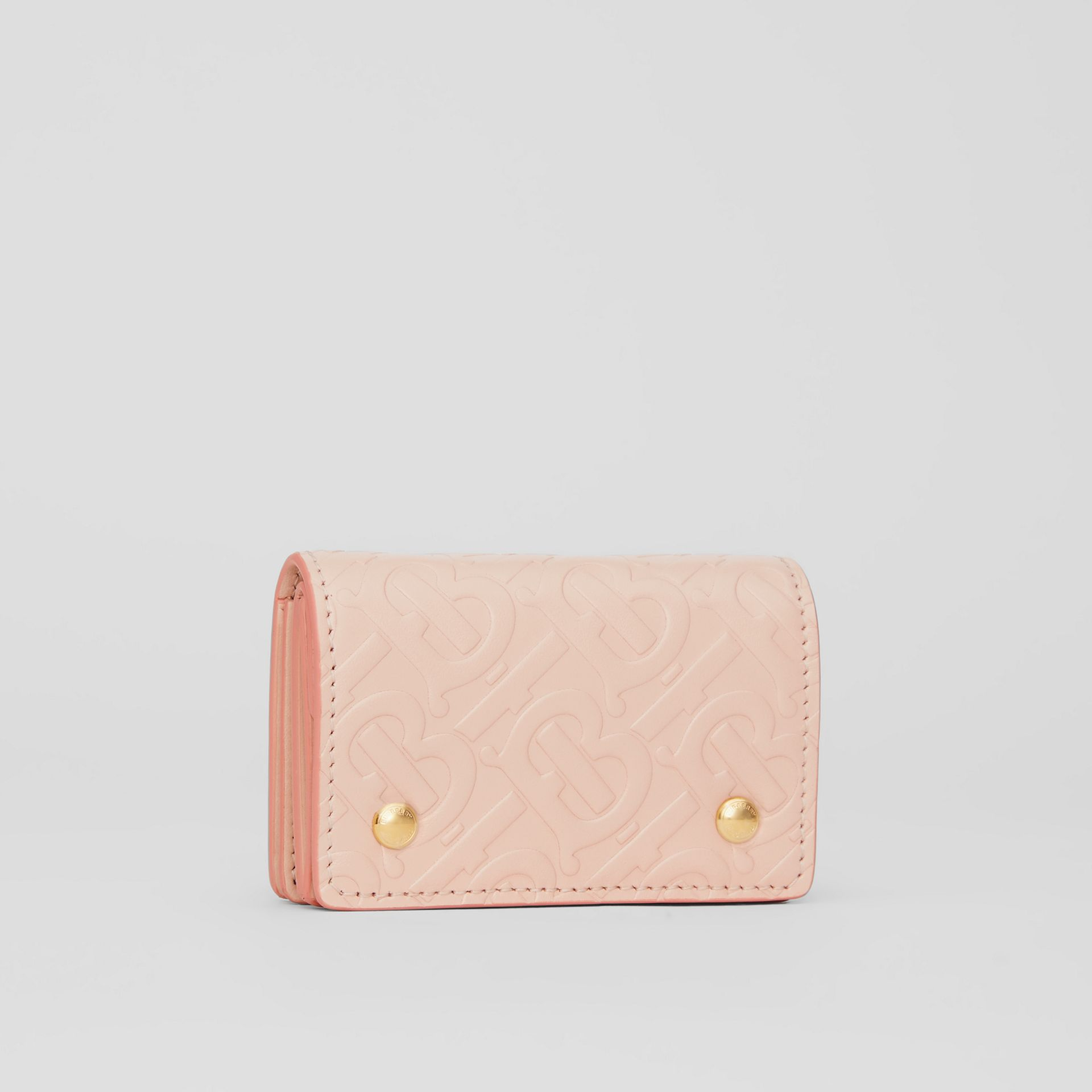 Monogram Leather Card Case in Rose Beige | Burberry United Kingdom - gallery image 3