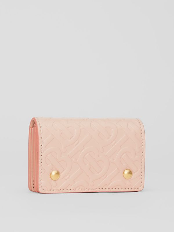 Monogram Leather Card Case in Rose Beige | Burberry Canada - cell image 3