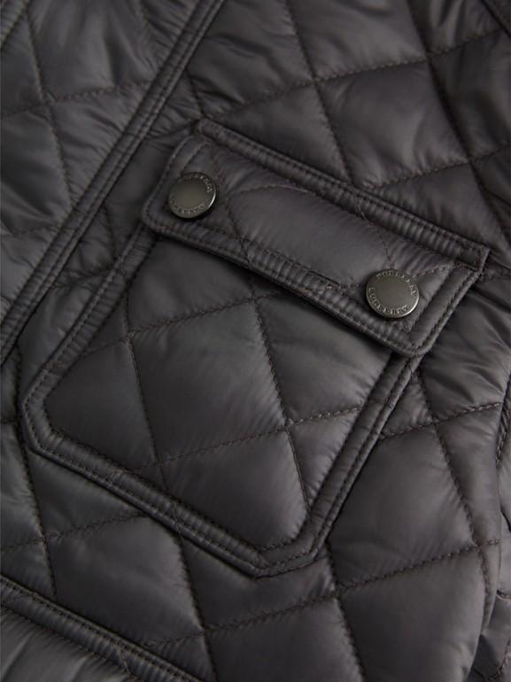 Jaqueta estilo militar em matelassê (Cinza Escuro) | Burberry - cell image 1