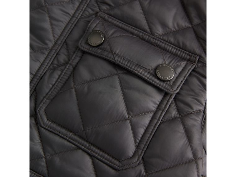 Diamond Quilted Field Jacket in Dark Grey - Boy | Burberry - cell image 1