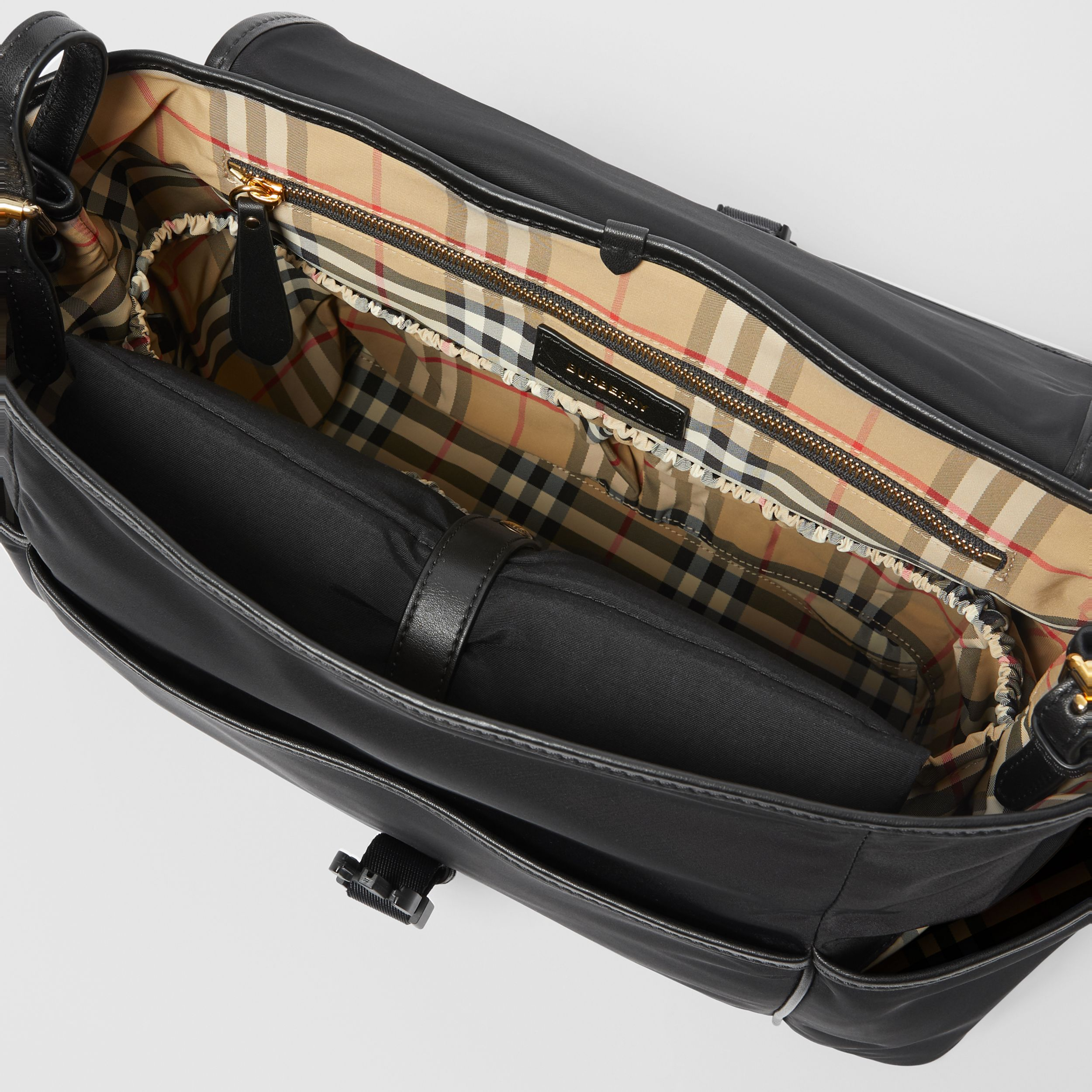 Logo Print Baby Changing Bag in Black - Children | Burberry - 4