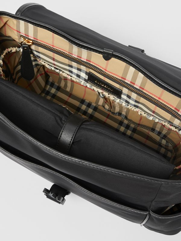 Logo Print Baby Changing Bag in Black - Children | Burberry - cell image 3
