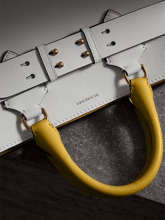 The Medium Leather Belt Bag in Chalk White/yellow - Women | Burberry - cell image 1