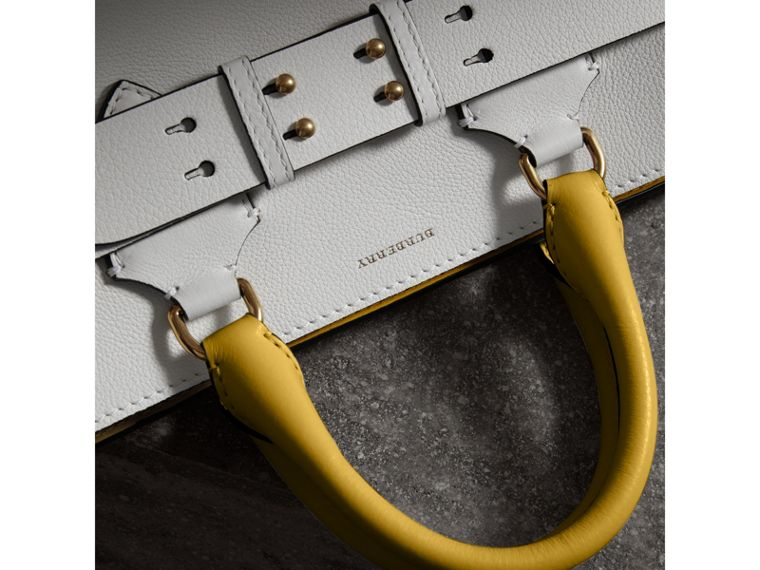 The Medium Leather Belt Bag in Chalk White/yellow - Women | Burberry United States - cell image 1