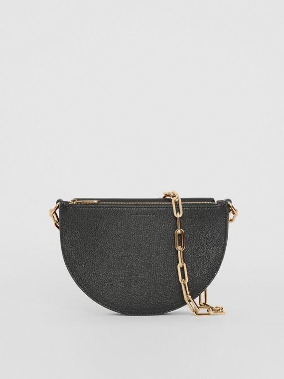 The Small Leather D Bag in Black