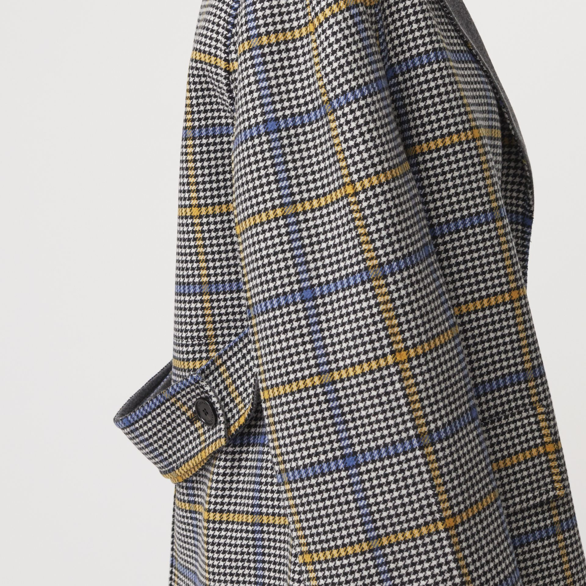 Double-faced Check Wool Cashmere Coat in Parchment - Women | Burberry Australia - gallery image 1
