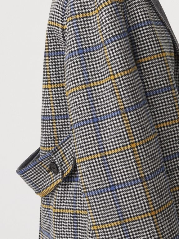 Double-faced Check Wool Cashmere Coat in Parchment - Women | Burberry Australia - cell image 1